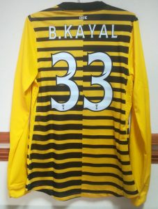 Kayal - 2011-12 - Third Shirt - Rear
